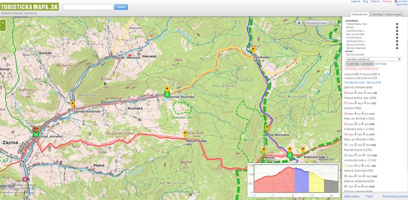 Mapa_Zazriva_Mincol_Kubinska