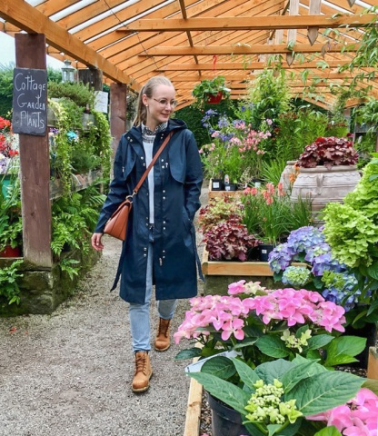 Predajňa kvetov v Altamont Gardens.
